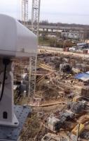 Контроль за строительной площадкой (высокое разрешение, поворотные камеры)